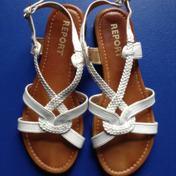 Report Shoes White Greek Style Sandals Poshmark